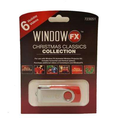 2 in. WindowFX Christmas Window Classics USB with 6 Videos