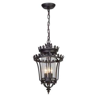 Greystone 3-Light Forged Iron Outdoor Pendant