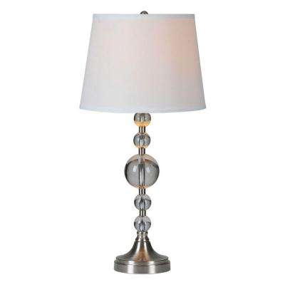 Luna 28 in. Chrome Incandescent Table Lamp
