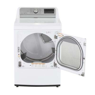 7.3 cu. ft. Electric Dryer with Turbo Steam in White