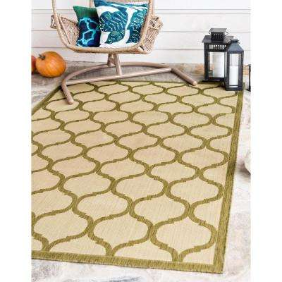 Outdoor Moroccan Beige 7' 0 x 10' 0 Area Rug