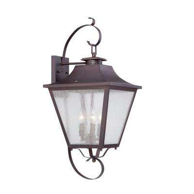Lafayette Collection 3-Light Architectural Bronze Outdoor Wall-Mount Light Fixture
