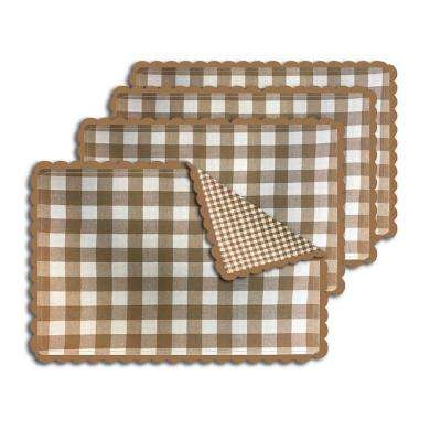 Buffalo Check Sand Reversible Placemat (Set of 4)