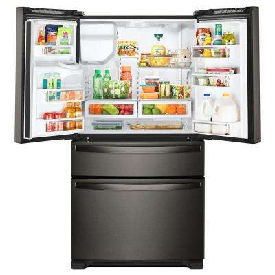 25 cu. ft. French Door Refrigerator in Fingerprint Resistant Black Stainless