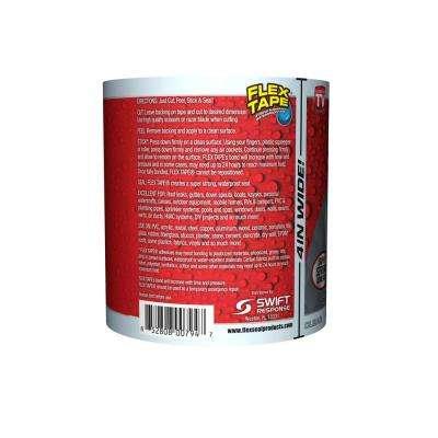 Flex Tape Clear 4 in. x 5 ft. Strong Rubberized Waterproof Tape (4-Piece)