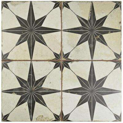 Star Nero 17-5/8 in. x 17-5/8 in. Ceramic Floor and Wall Tile (11.1 sq. ft. / case)