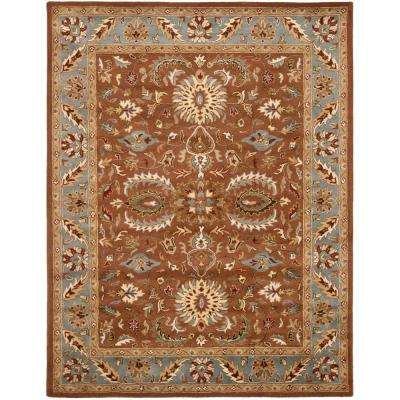 Heritage Brown/Blue 6 ft. x 9 ft. Area Rug
