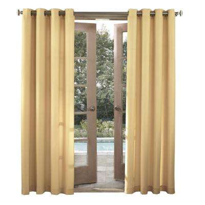 Semi-Opaque Outdoors Birmingham Indoor/Outdoor Woven Solid Color Window Curtain