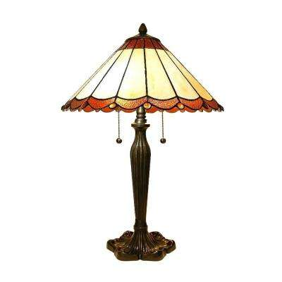 Tiffany Scalloped 23 in. Bronze Table Lamp