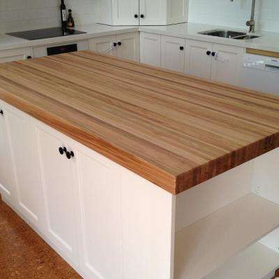 8 ft. L x 2 ft. 1 in. D x 1.5 in. T Butcher Block Countertop in Finished Oak