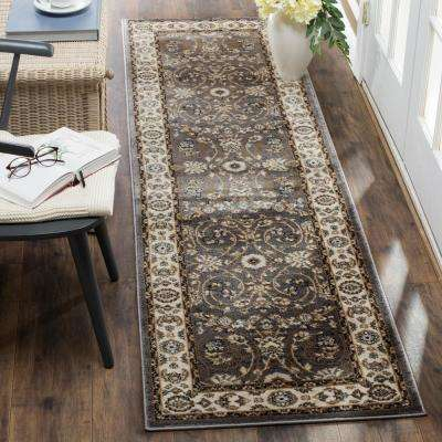 Lyndhurst Gray/Cream 2 ft. x 12 ft. Runner Rug