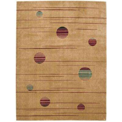 Parallels Gold 2 ft. 3 in. x 3 ft. 9 in. Area Rug