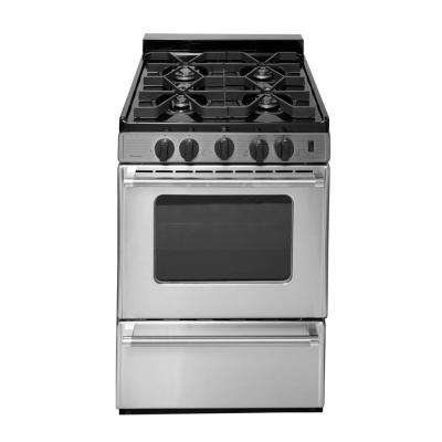 ProSeries 24 in. 2.97 cu. ft. Battery Spark Ignition Gas Range in Stainless Steel