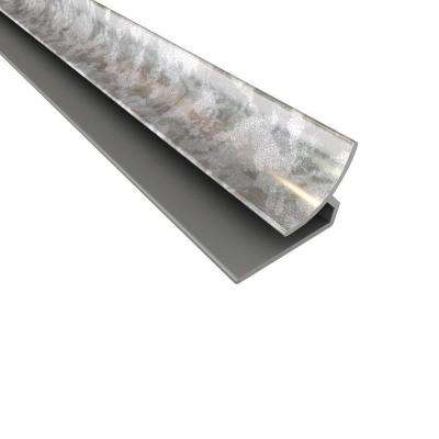 4 ft. Large Profile Inside Corner Trim in Galvanized Steel