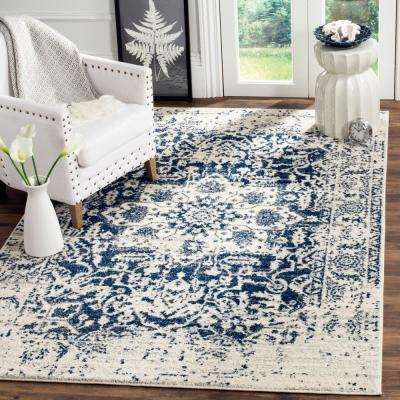 Madison Cream/Navy 8 ft. x 10 ft. Area Rug