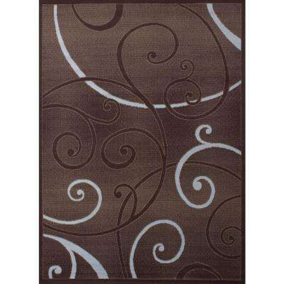 Bangles Chocolate 5 ft. 3 in. x 7 ft. 2 in. Indoor Area Rug