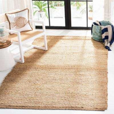 Natural Fiber Beige 6 ft. x 6 ft. Square Indoor Area Rug