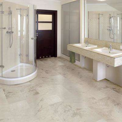 Allure Ultra 12 in. x 23.82 in. Carrara White Luxury Vinyl Tile Flooring (19.8 sq. ft. / case)