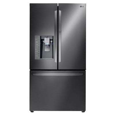 30 cu. ft. French Door Refrigerator with Door-In-Door Design in Black Stainless Steel