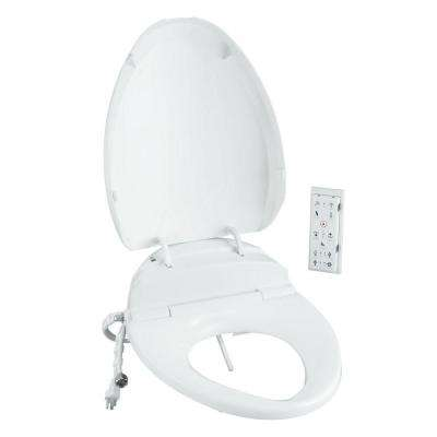 C3-200 Electric Bidet Seat for Elongated Toilets in White with In-Line Heater