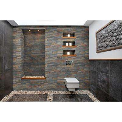 Salvador Multi Panel Ledger Panel 6 in. x 24 in. Natural Slate Wall Tile (28 cases /224 sq. ft. / pallet)