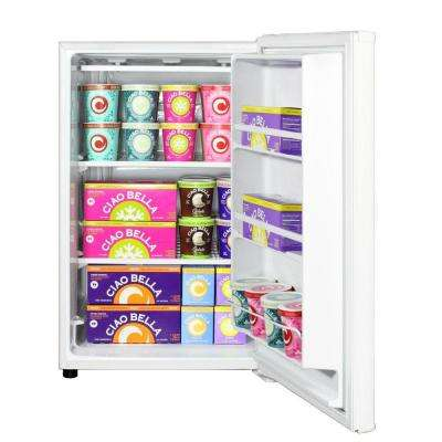 5 cu. ft. Upright Freezer in White