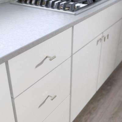 1-9/16 in. (40 mm) Brushed Steel Bar Cabinet Knob (12-Pack)