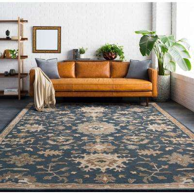 Gilgamesh Navy 4 ft. x 6 ft. Indoor Area Rug