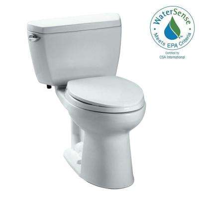 Eco Drake 2-Piece 1.28 GPF Single Flush Elongated Toilet in Cotton