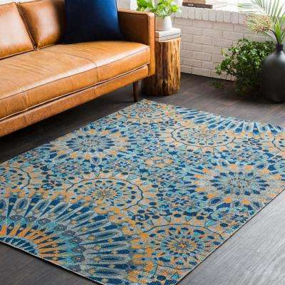 Rochelle Burnt Orange 5 ft. x 7 ft. Indoor Area Rug
