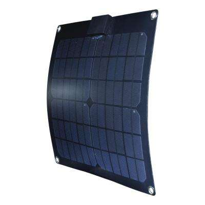 15-Watt Semi-Flex Monocrystalline Solar Panel with Charge Controller for 12-Volt Battery Charging