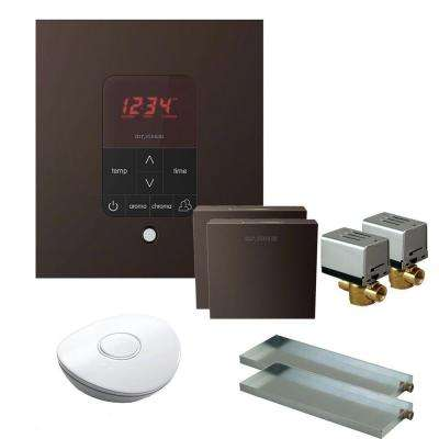 MS Butler 2 Package with iTempo Pro Square Programmable Control for Steam Bath Generator in Oil Rubbed Brass