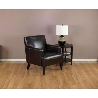 Eco Leather Carrington Arm Chair in Espresso