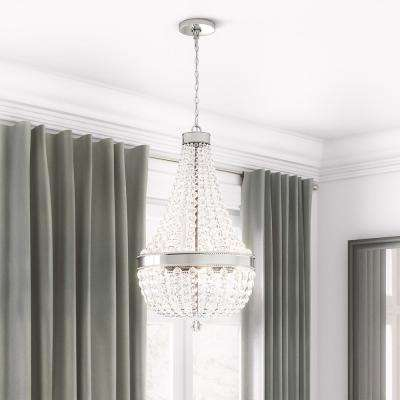 Monticello Park 6-Light Chrome Crystal Chandelier
