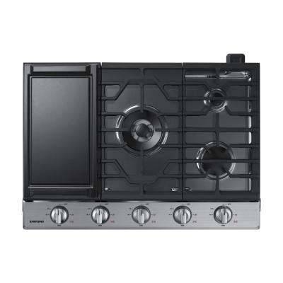30 in. Gas Cooktop in Stainless Steel with 5 Burners including Power Burner with Wi-Fi