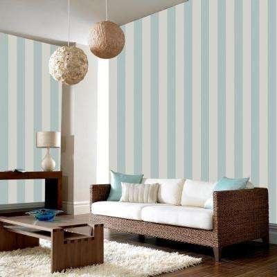 Evita Water Silk Stripe Teal/Silver Wallpaper Sample