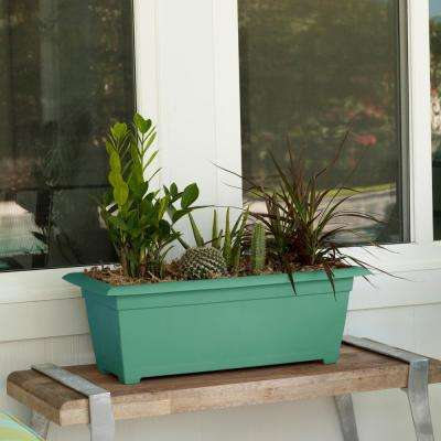 Dayton 27 in. x 9 in. Jungle Green Plastic Window Box