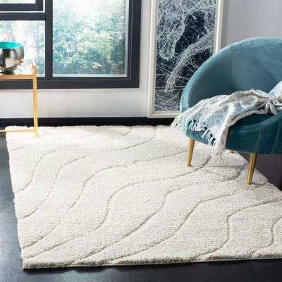 Florida Shag Cream 3 ft. x 5 ft. Area Rug