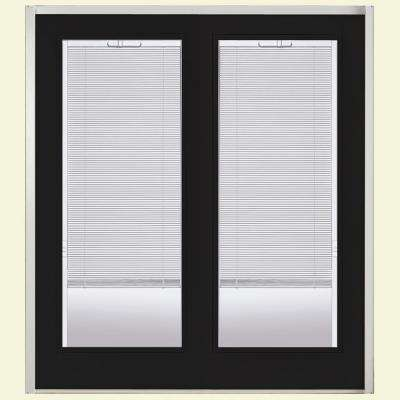 Primed Prehung Mini Blind Steel Patio Door with Brickmold