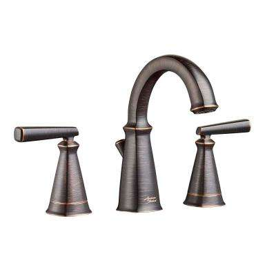 Edgemere 8 in. Widespread 2-Handle Bathroom Faucet with Metal Speed Connect Drain in Legacy Bronze