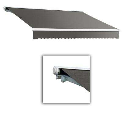 24 ft. Galveston Semi-Cassette Right Motor with Remote Retractable Awning (120 in. Projection) Gray