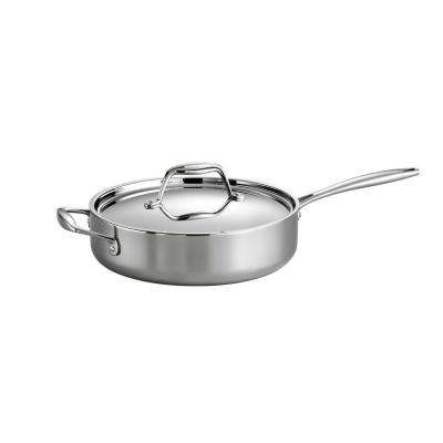 Gourmet Tri-Ply Clad 3 Qt. Covered Deep Saute Pan