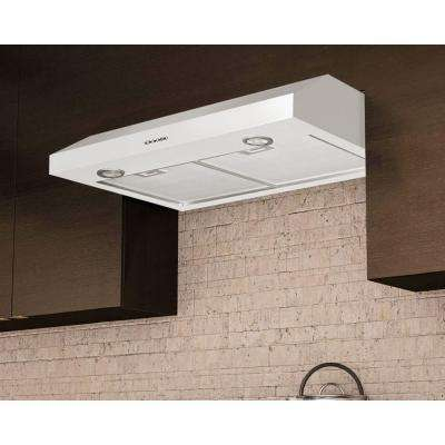 Slim Plus 30 30 in. Under-Cabinet Range Hood in White