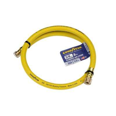 3 ft. x 3/8 in. Rubber Whip Hose, Yellow