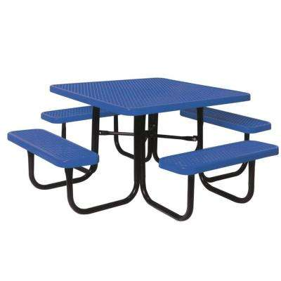 46 in. Diamond Blue Commercial Park Square Table