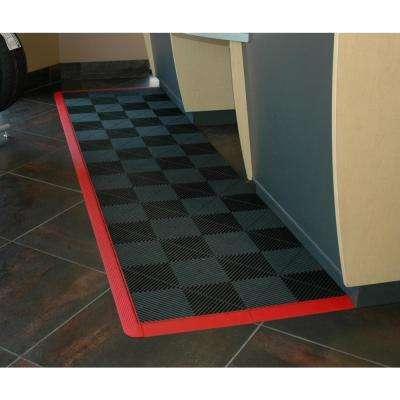 15.75 in. Jet Black Looped Edging for 15.75 in. Swisstrax Modular Tile Flooring (2-Pack)