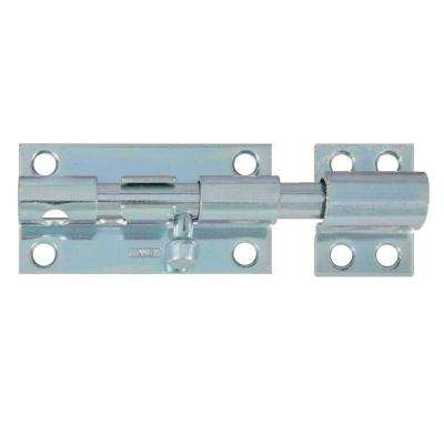 4 in. Zinc-Plated Heavy Barrel Bolt with Screws