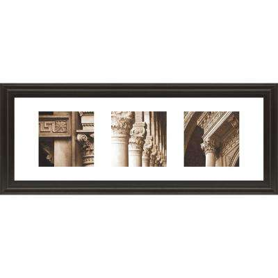 "18 in. x 42 in. ""Architectual Triptych II"" by Tony Koukos Framed Printed Wall Art"