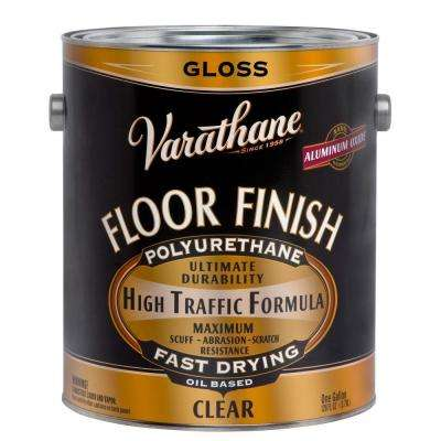 1 gal. Clear Gloss 275 VOC Oil-Based Floor Finish Polyurethane (Case of 2)