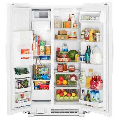 25 cu. ft. Side by Side Refrigerator in White